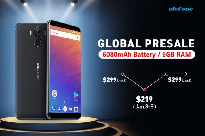 Ulefone Power 3 в предзаказе на Gearbest по цене $219,99 до 8 января – фото 1