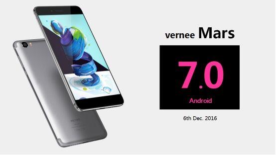 Vernee Mars получит обновление до Android 7.0 Nougat в декабре – фото 1