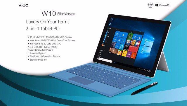 VIDO W10 Elite с 4-ядерным процессором Intel Atom x7-Z8700 и на базе Windows 10 оценен в $350 – фото 2