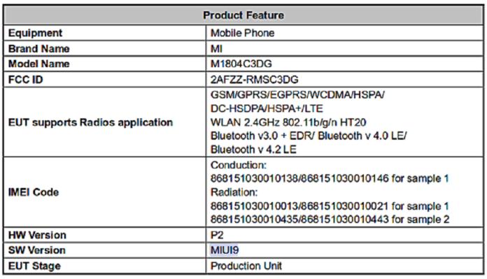 Неизвестный смартфон Xiaomi сертифицирован в FCC – фото 1