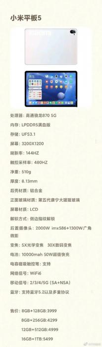 Xiaomi Mi Pad 5 представляют настоящим монстром по «железу» – фото 2
