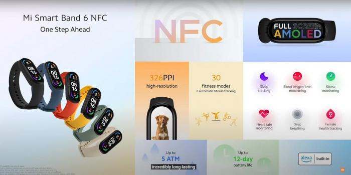 Xiaomi Mi Smart Band 6 приходит на рынок Европы с NFC – фото 2
