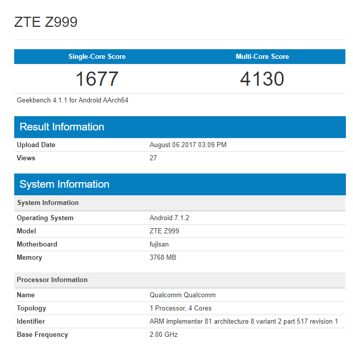Складной смартфон ZTE Axon Multy замечен в FCC и Geekbench – фото 1