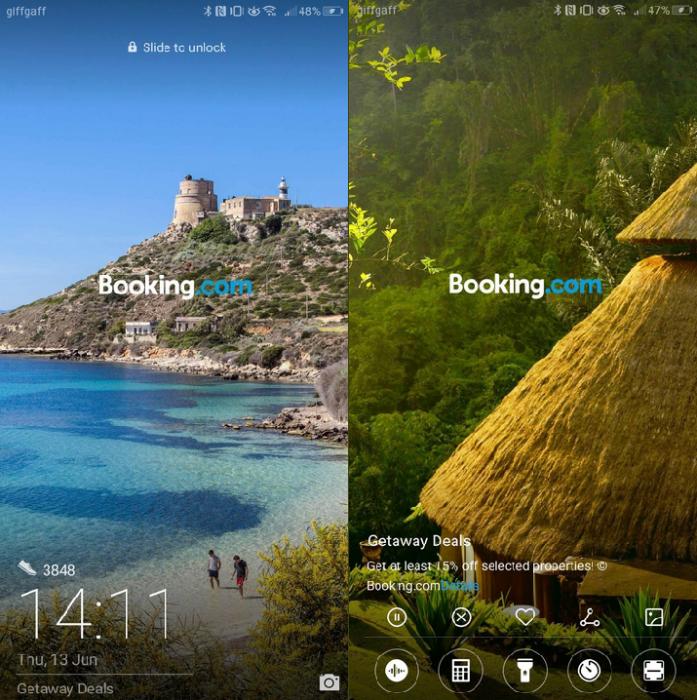 Huawei начала показывать рекламу на экране блокировки – фото 2