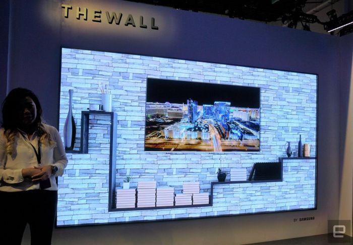 Модульный телевизор-стена на 146 дюймов на выставке CES 2018 – фото 1