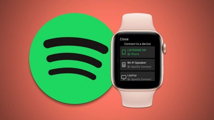 Spotify на часах Apple