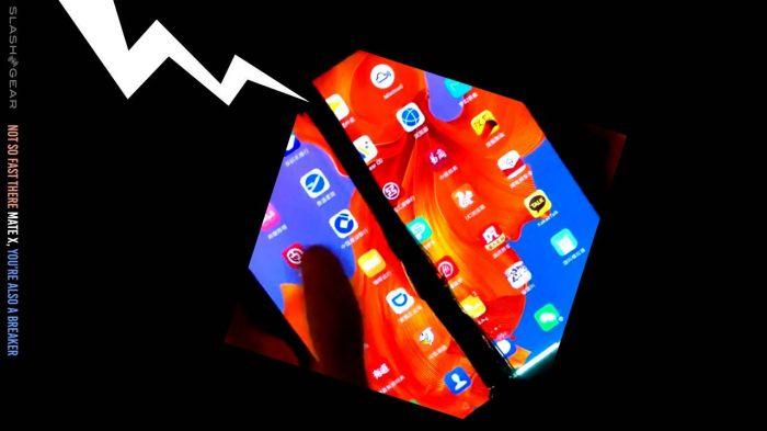 У Huawei Mate X тоже имеются проблемы с гибкой матрицей