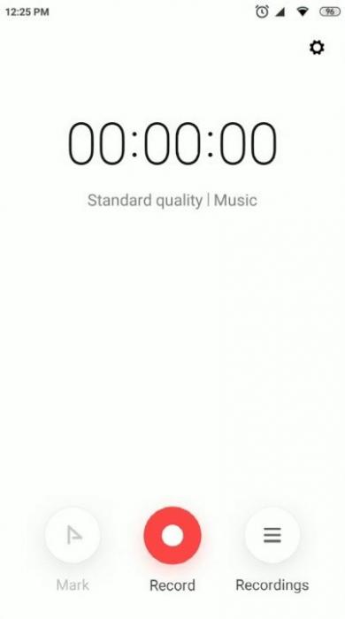 Диктофон Xiaomi MIUI