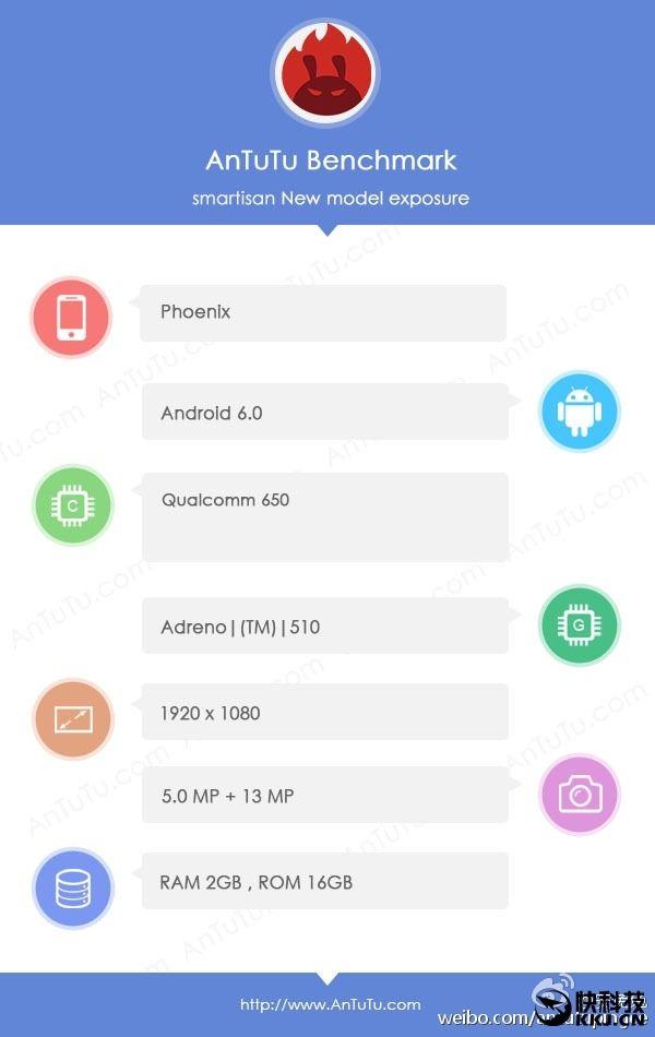 Смартфон от Smartisan с кодовым именем Phoneix получит Snapdragon 650 и Android 6.0 из коробки – фото 1