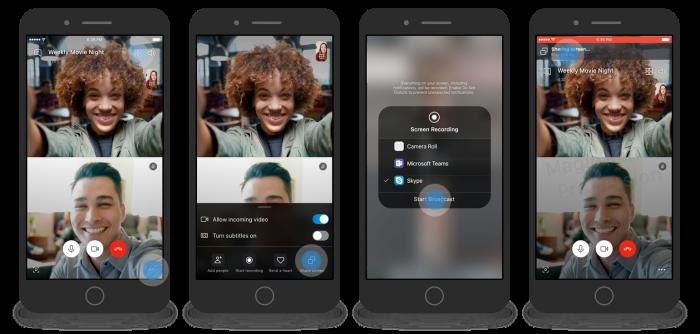 В мобильной версии Skype появился показ экрана – фото 1