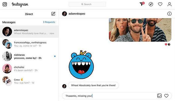 Instagram работает над добавлением Direct Messages в веб-версию сервиса – фото 1