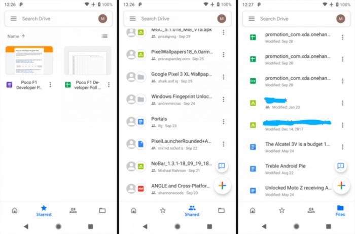 Google Диск получит редизайн в стиле MD2 – фото 1