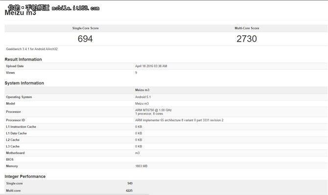 Geekbench приписывает смартфону Meizu M3 (M3 mini) процессор МТ6750 – фото 1
