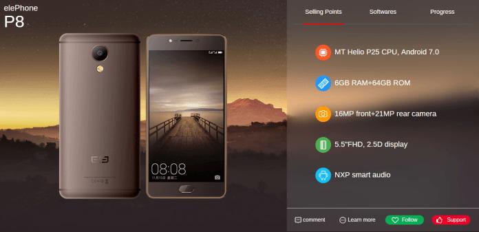Elephone S8, P8, PlayX и другие новинки от Elephone в 2017 году – фото 2