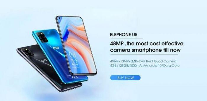 Elephone представила новый бюджетник Elephone U5 – фото 1