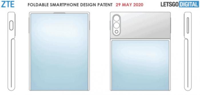 Патент складного смартфона ZTE. Картинка 3
