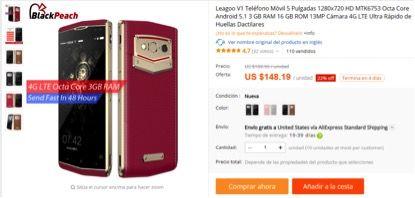 Leagoo Venture 1 со скидкой в $40 на AliExpress – фото 1