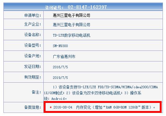 Samsung Galaxy Note 7 в модификации 6/128 Гб будет доступен в Китае – фото 2