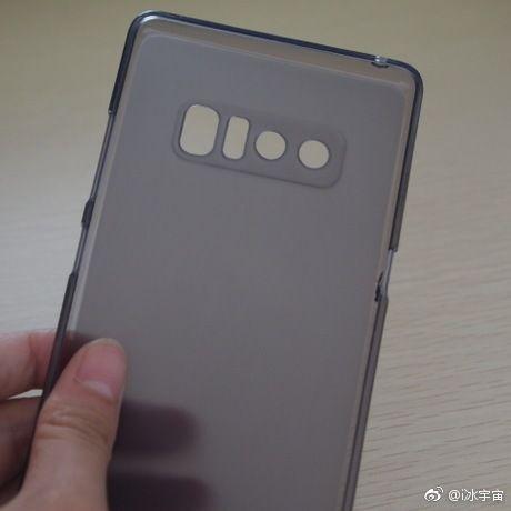 Фото чехла Samsung Galaxy Note 8 с двойной камерой и сканером отпечатков пальцев на тыльной стороне – фото 1