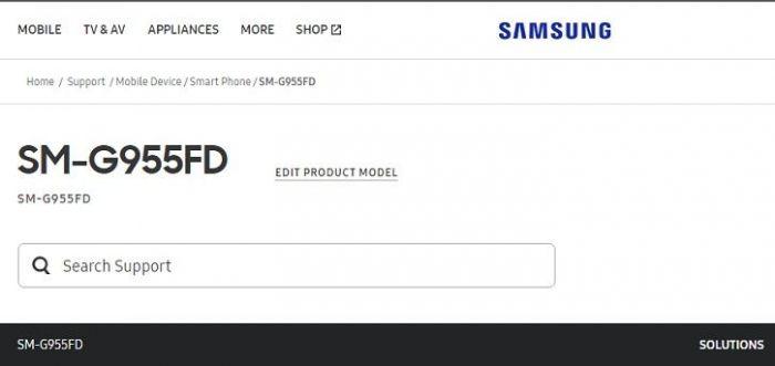 Samsung Galaxy S8+ дал о себе знать на официальном сайте компании в Индии – фото 1