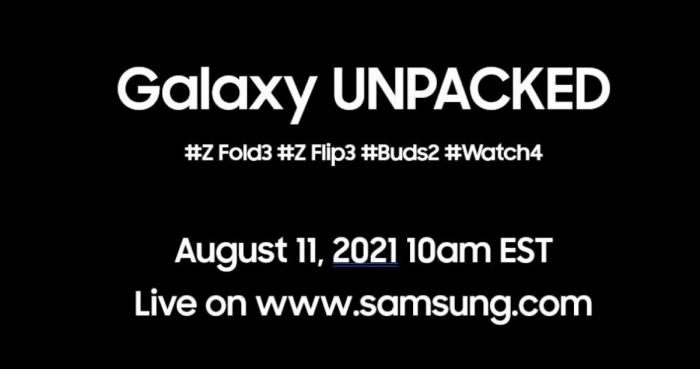 Дата анонса Samsung Galaxy Z Fold 3, Galaxy Z Flip 3, Galaxy Watch 4 и Galaxy Buds 2 назначена – фото 1