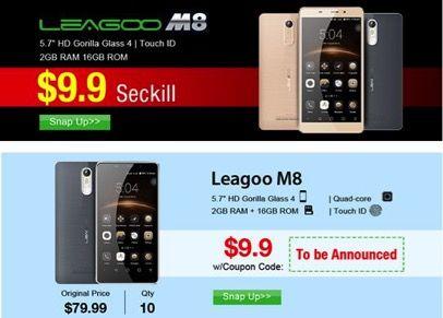 Leagoo M8 всего за $9.99 в магазине Tinydeal – фото 1