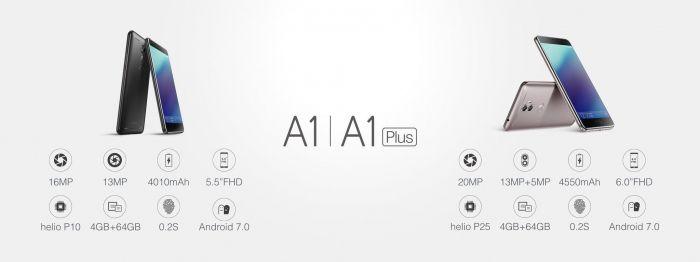 Gionee A1 и Gionee A1 Plus созданы для продолжительного времени работы и качественных автопортретов – фото 1