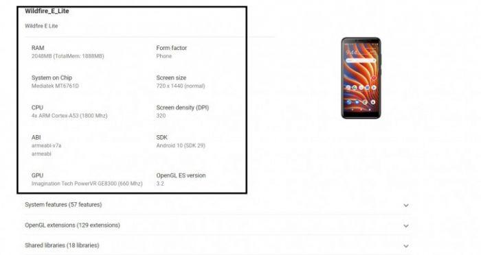 Wildfire E Lite унылая бюджетка от HTC – фото 1