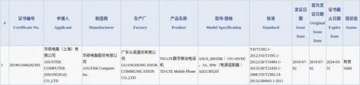 ASUS ROG Phone 2 предложит быструю 30-ваттную зарядку – фото 1