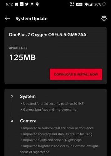 OxygenOS 9.5.5 улучшает камеру OnePlus 7 – фото 1