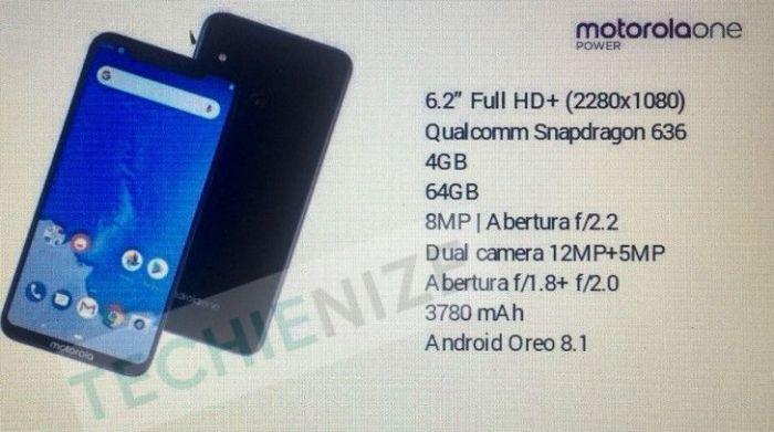 Утечка: характеристики Motorola One Power – фото 1