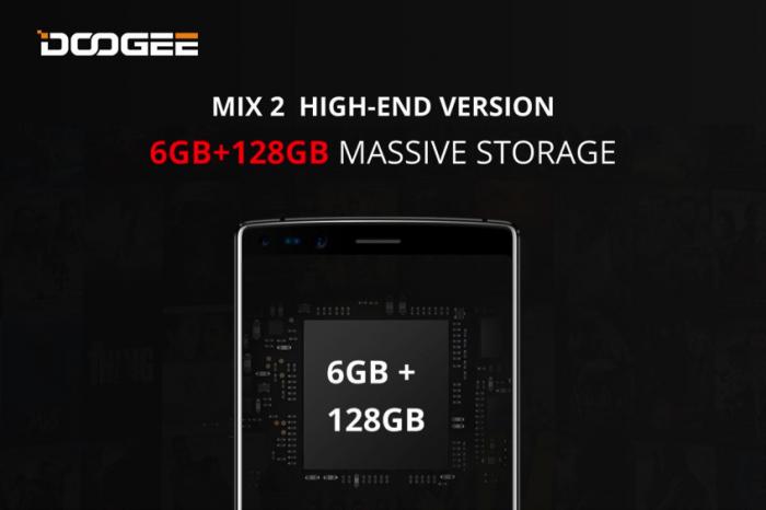 Doogee MIX3 с изогнутым AMOLED-экраном и 8 Гб ОЗУ появится в следующем году. Doogee MIX2 получил топовую версию с 128 Гб ПЗУ – фото 3