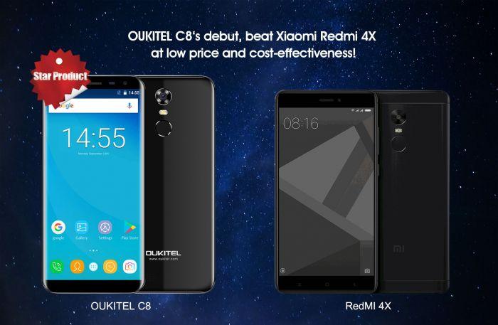 Выбираем лучший недорогой смартфон: Oukitel C8 или Xiaomi Redmi 4X – фото 1