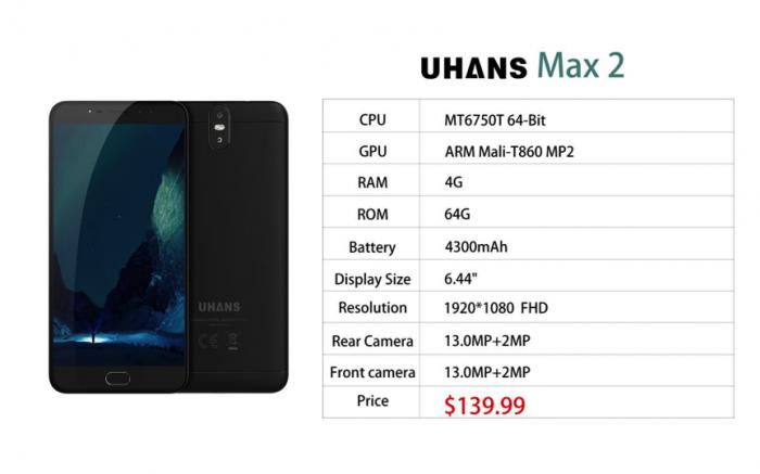 UHANS Max 2: смартфон с большим экраном теперь доступен для предзаказа по цене $139,99 – фото 2