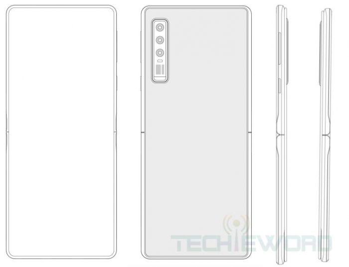 Huawei запатентовала сгибаемую раскладушку