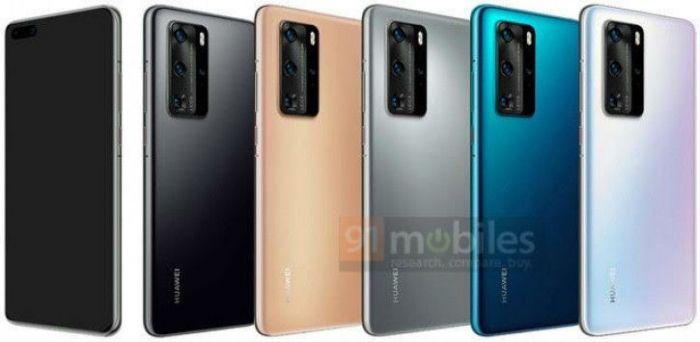 Визуализация Huawei P40 и Huawei P40 Pro во всех цветах – фото 2