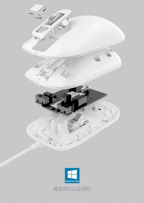 Xiaomi демонстрирует мышку со встроенным сканером отпечатка пальца – фото 1