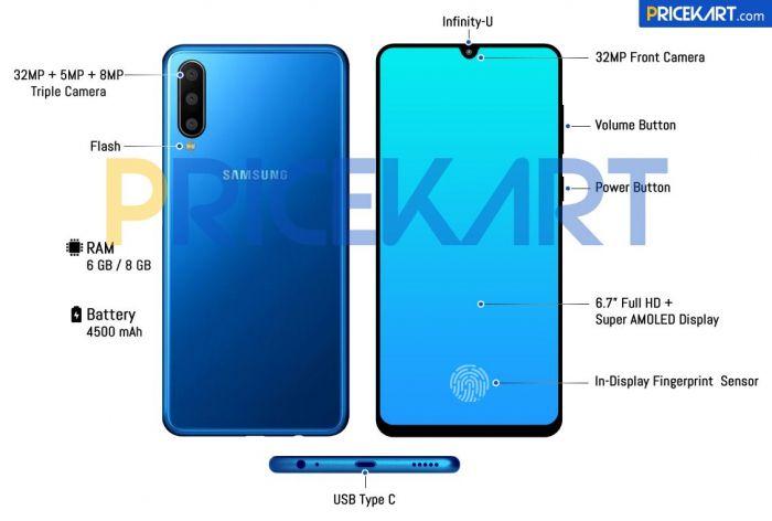 Samsung Galaxy A60 предстал на рендере – фото 2