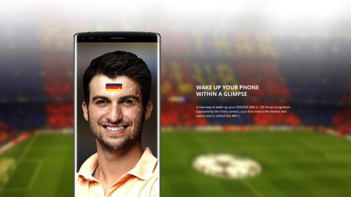 Безрамочный Doogee MIX 2 станет самым доступным смартфоном с системой распознавания лица – фото 3