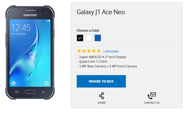 Samsung Galaxy J1 Ace Neo получил 4,3-дюймовый Super AMOLED-дисплей, 1 Гб оперативки и 4-ядерный процессор – фото 2