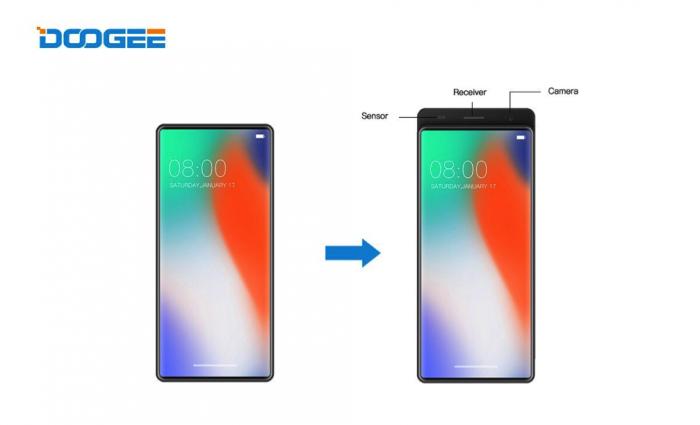 Doogee показала концептуальный безрамочный смартфон-слайдер – фото 1