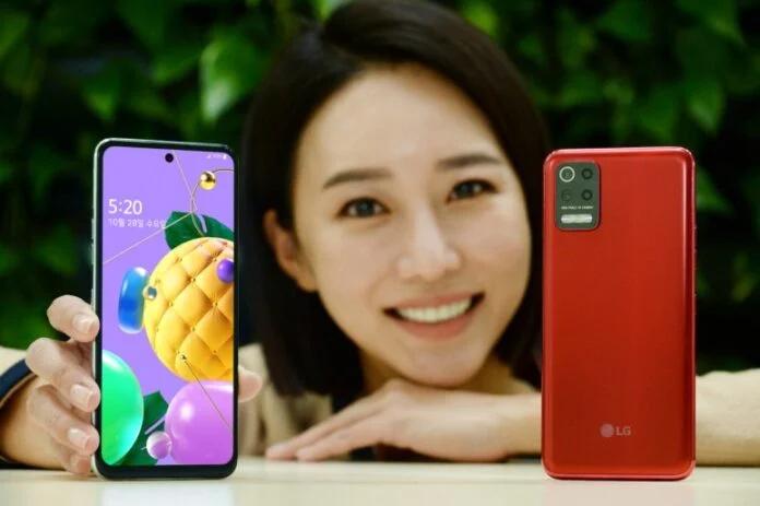 LG Q52 в двух цветах