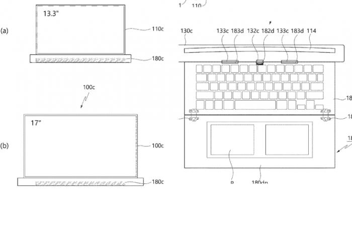 Ноутбук LG с растягивающимся дислпеем
