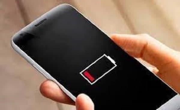 маленький заряд телефона