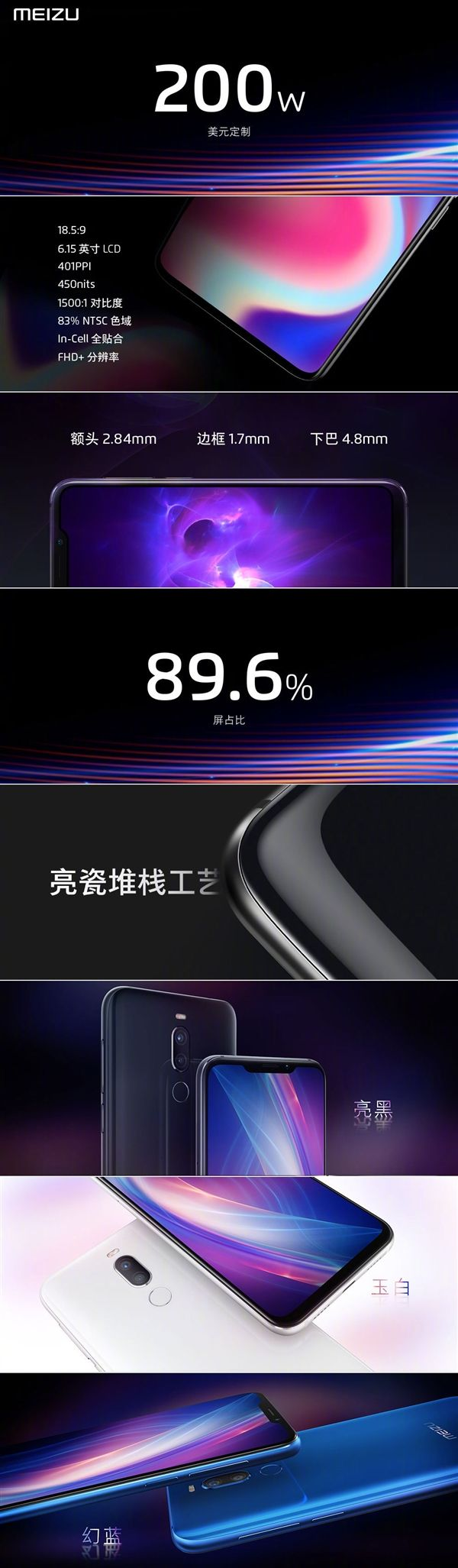 Анонс Meizu X8: первый с «монобровью» от Meizu на базе Snapdragon 710 – фото 3