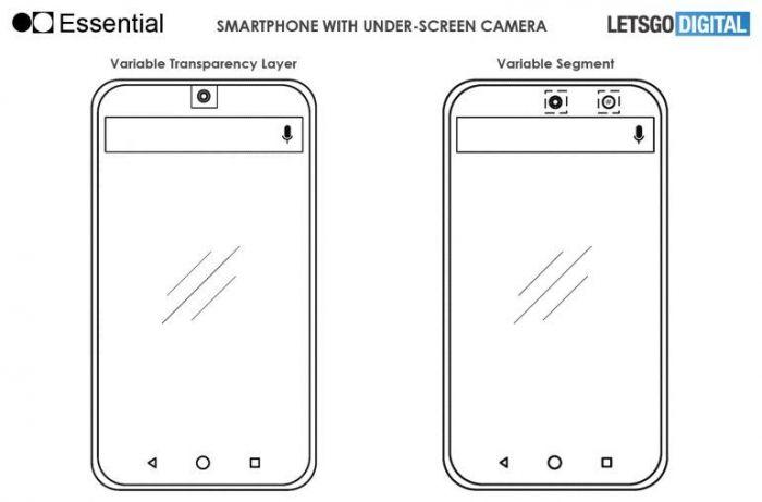 Essential запатентовала камеру под дисплеем