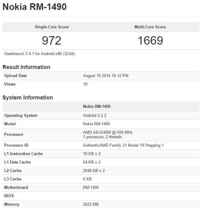 Android-смартфоны Nokia засветились в бенчмарке GeekBench. Фейк? – фото 2