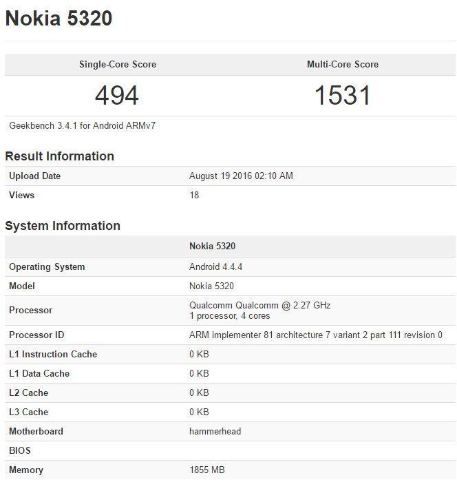 Android-смартфоны Nokia засветились в бенчмарке GeekBench. Фейк? – фото 1