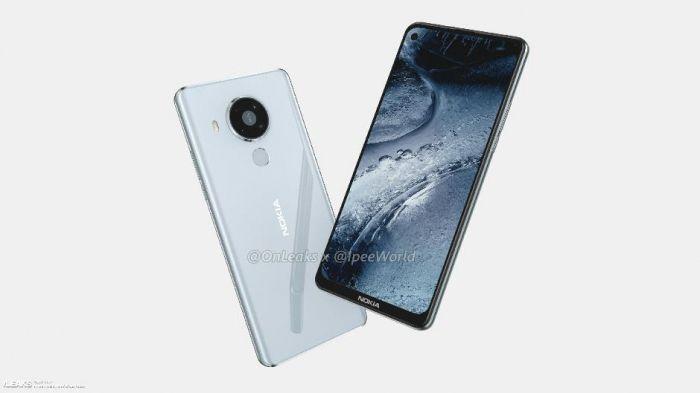 Nokia 7.3 в белом цвете