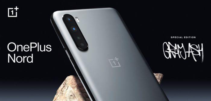 Официальное изображение OnePlus Nord Ash Gray